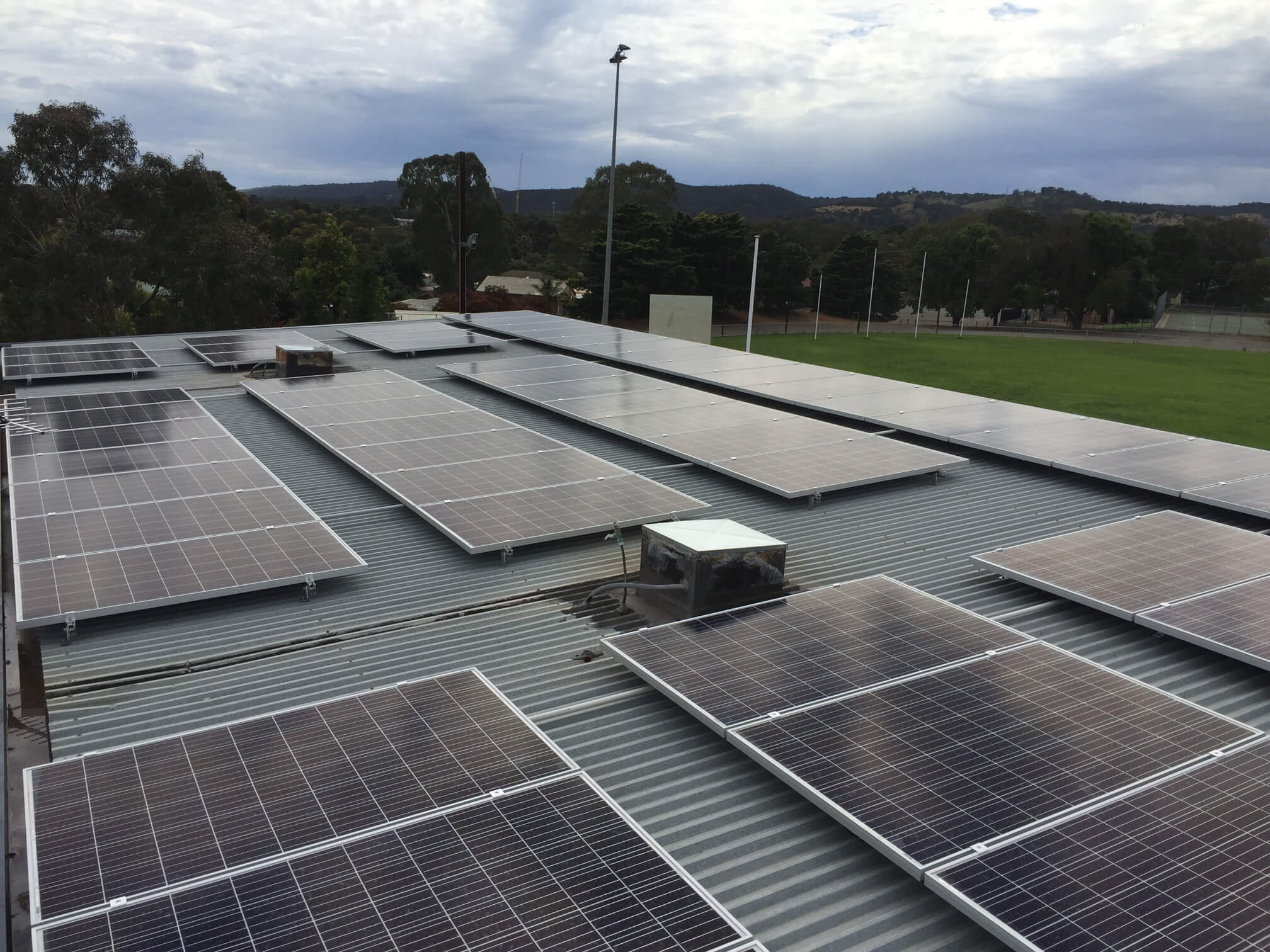 Solar Panels installed at the Hope Valley Sporting Complex