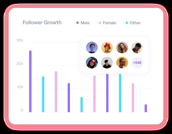 follower growth chart