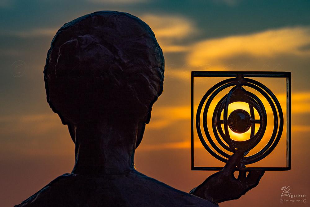 Marie Skłodowska Curie Statue in Warsaw