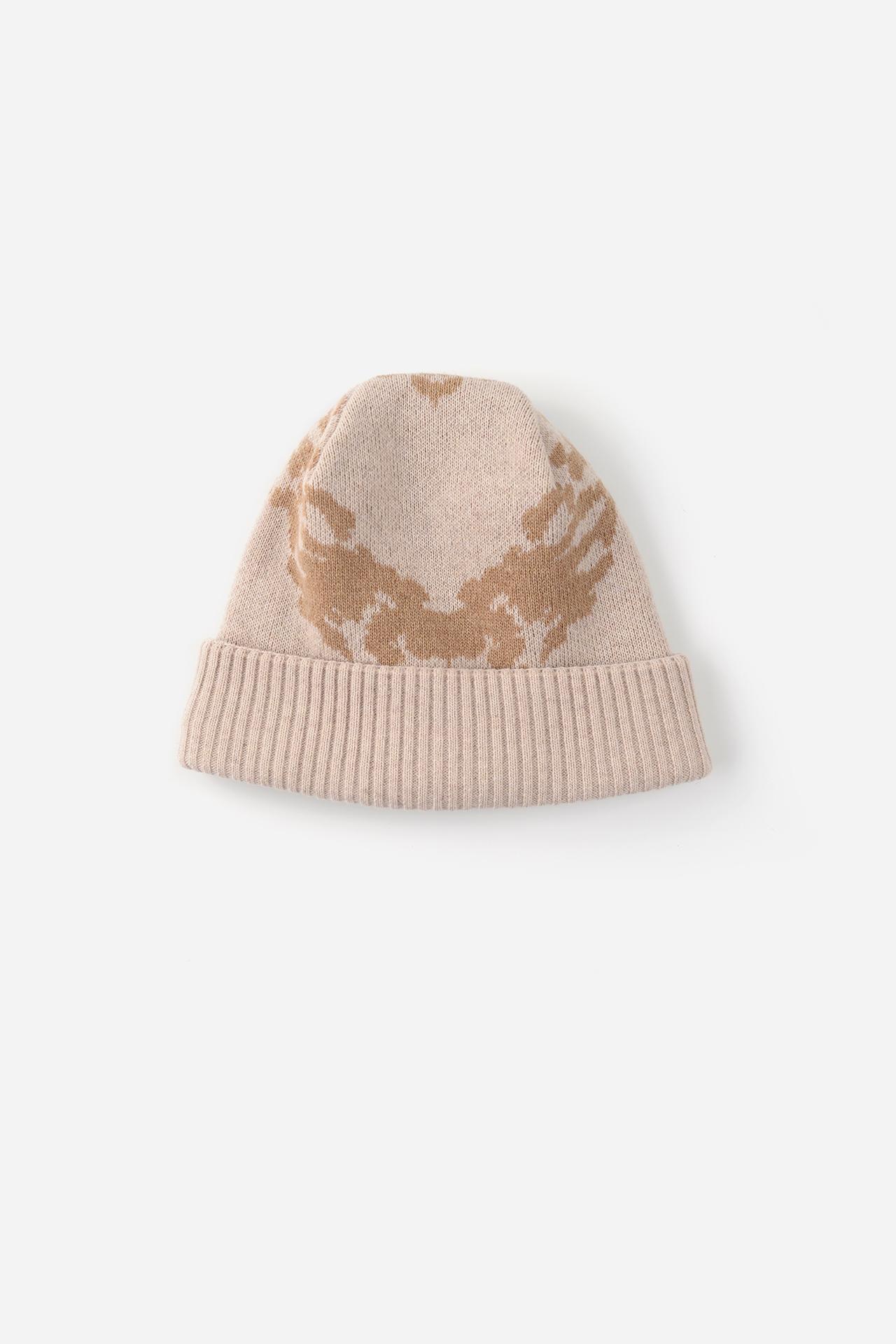 Jacquard Knit Beanie Beige