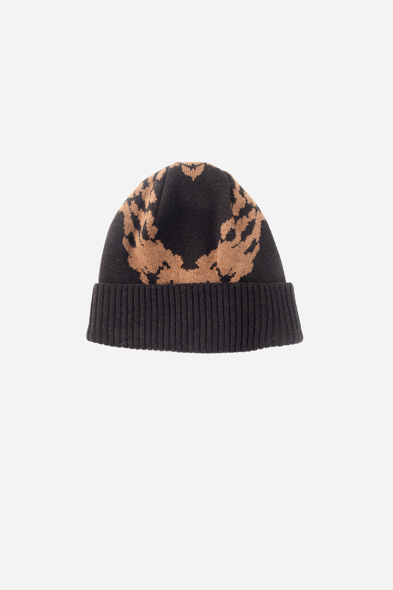 Jacquard Knit Beanie Brown