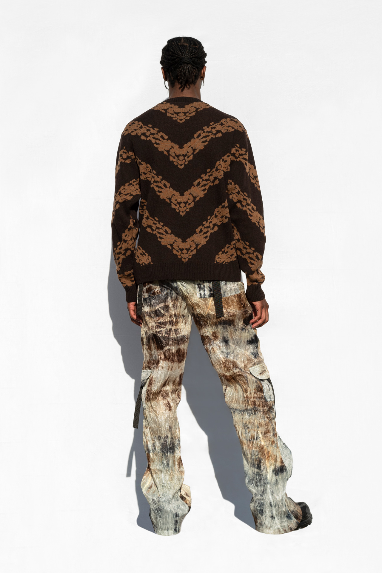 Jacquard Knit Jumper Brown
