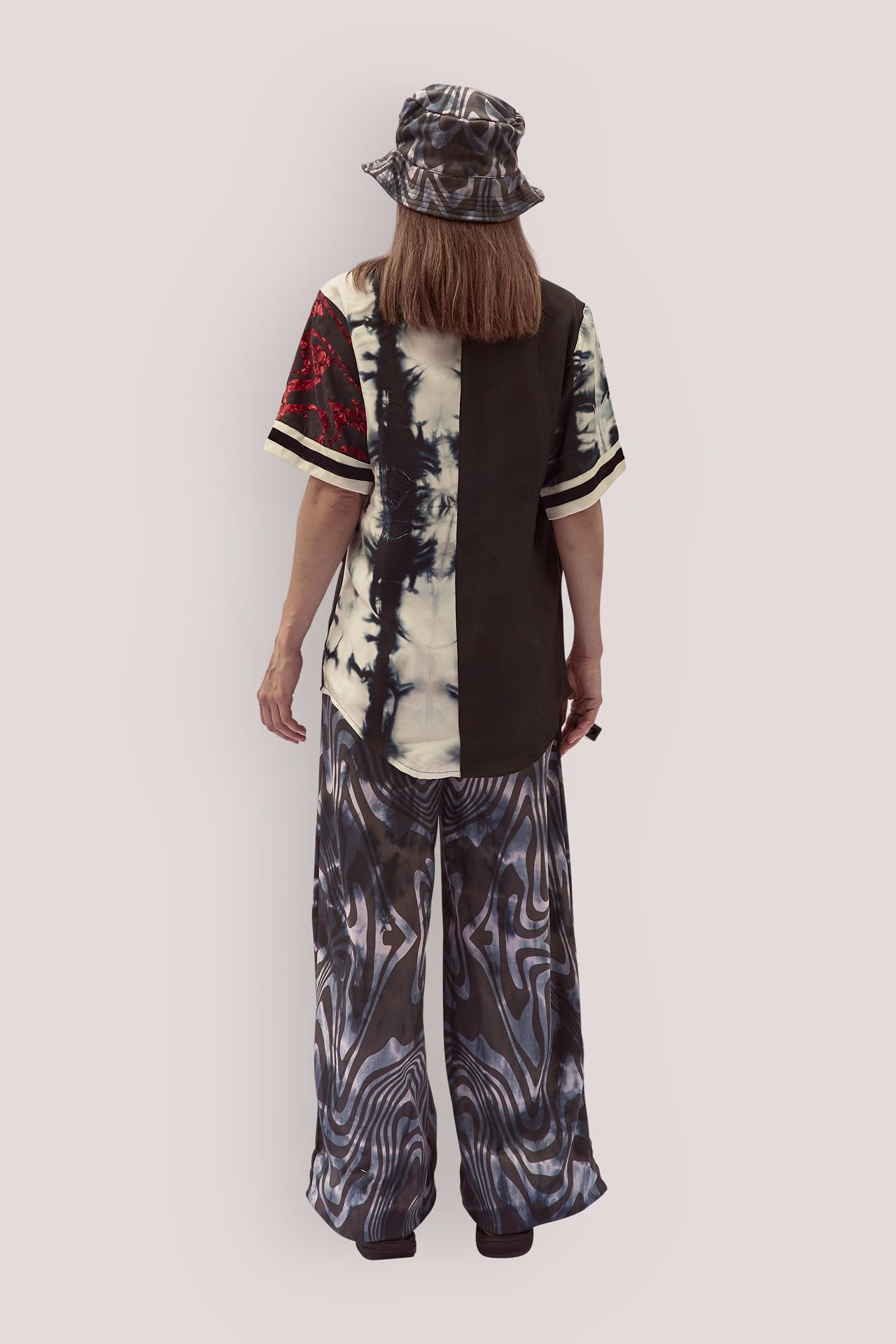 Upcycled Short Sleeves Silk Shirt