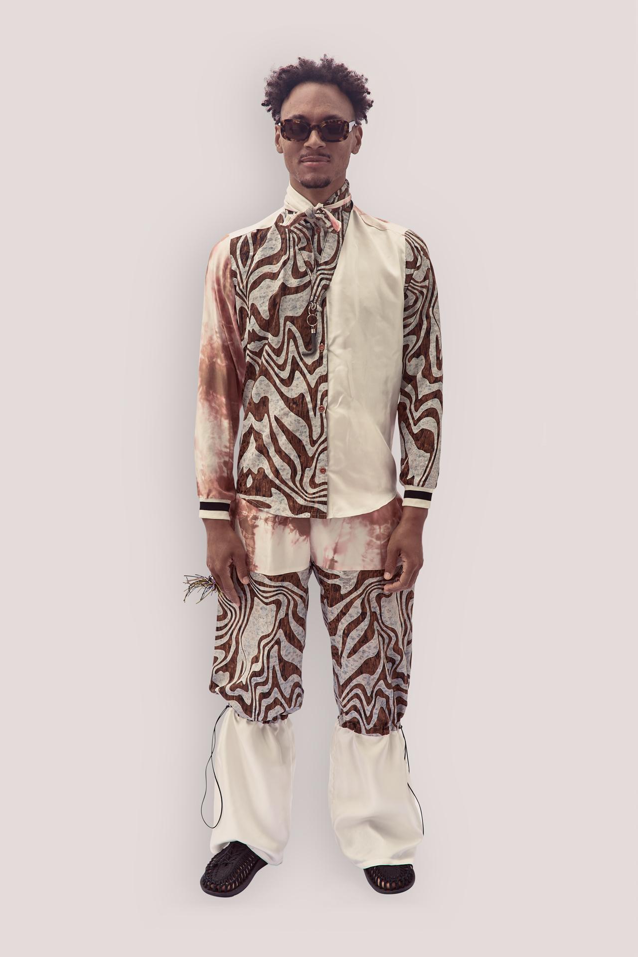 Upcycled Long Sleeves Silk Shirt