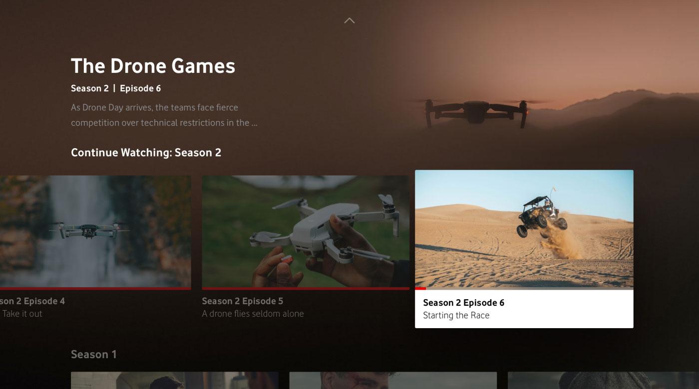 Giga TV screendesign series overview.