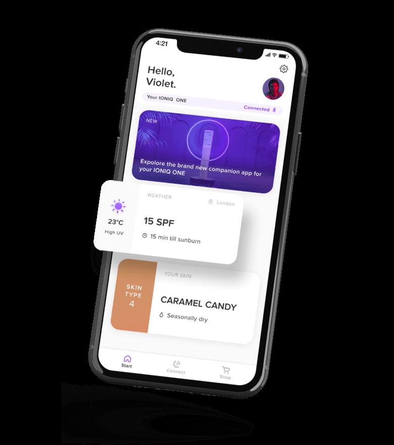 Home Screen of the IONIQ app.