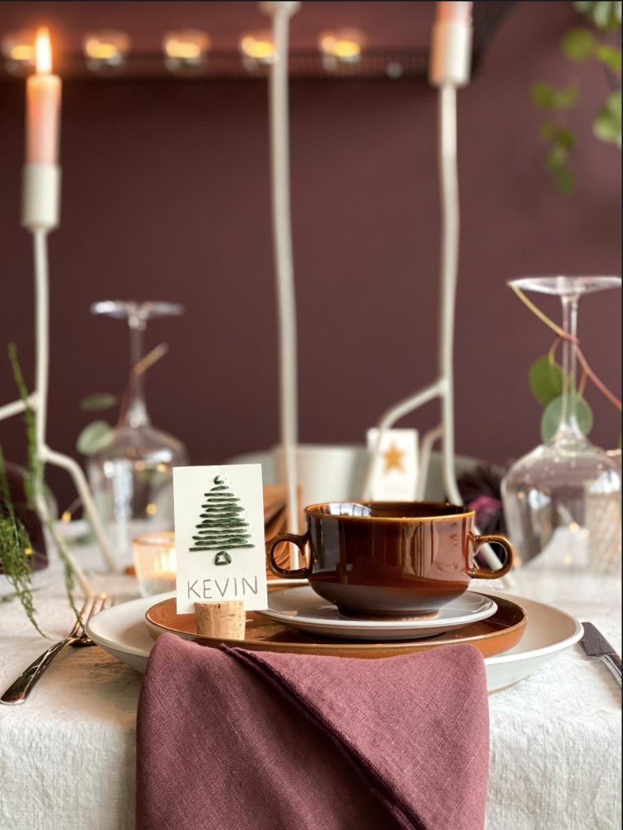 DIY naamkaartjes maken voor de kersttafel