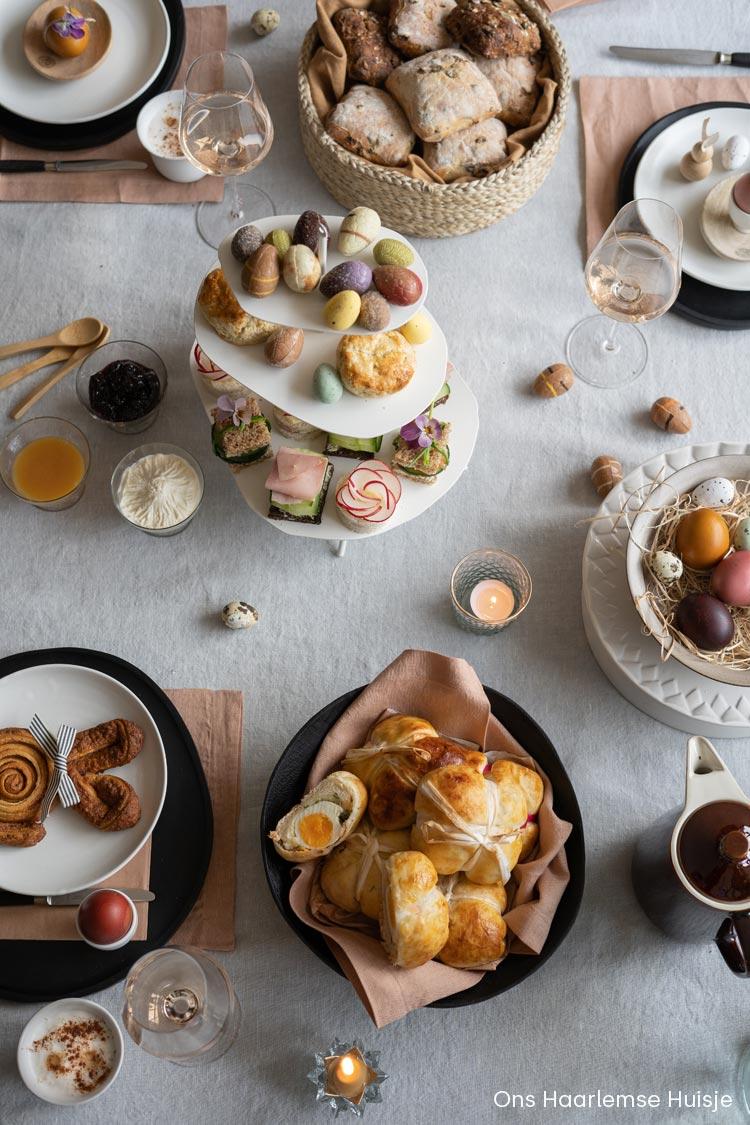 Inspiratie voor de het dekken van de tafel voor Pasen