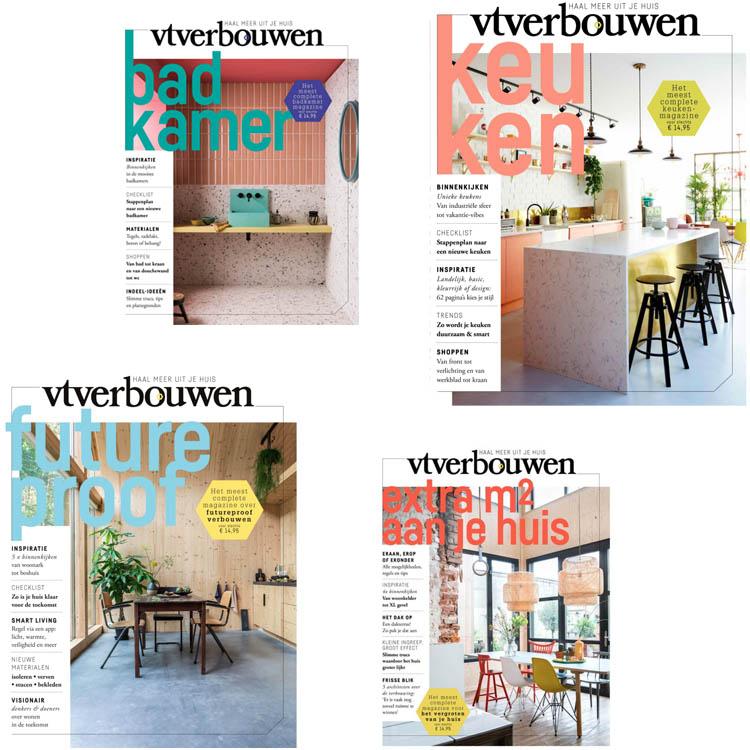 VT verbouwen tijdschriften badkamer, keuken, futureproof en extra m2's