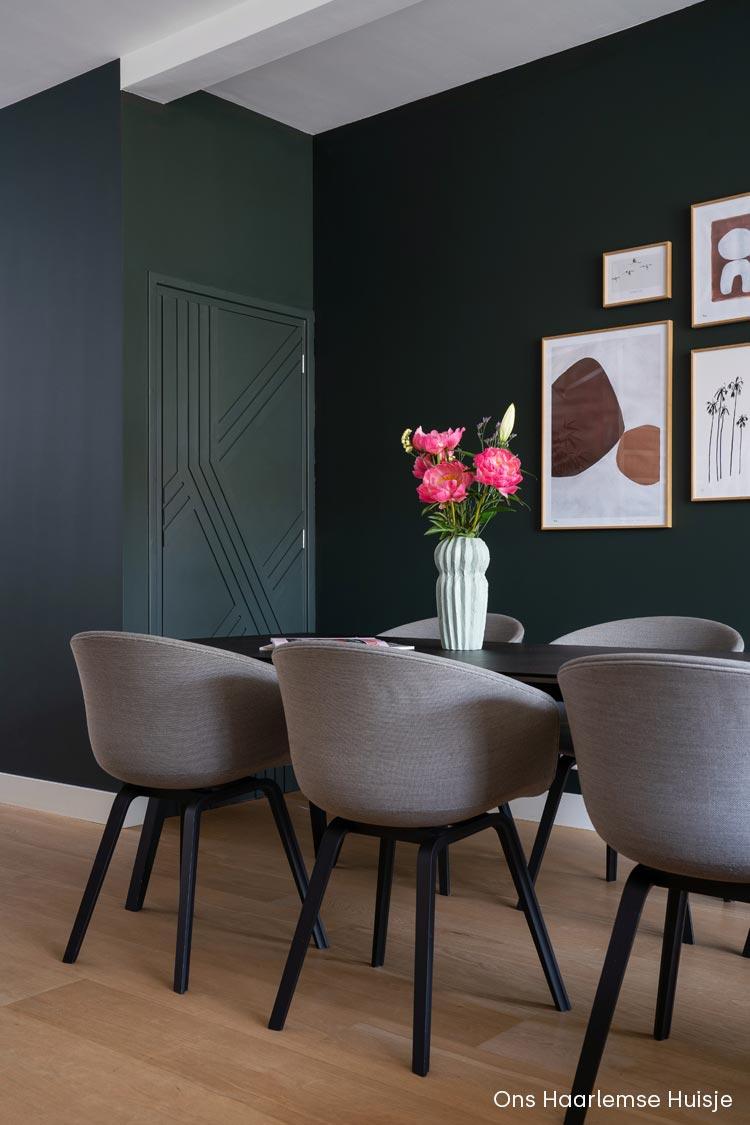 Groen combineren met bruin, rood en terracotta tinten | Lijsten aan de muur van My Deer Art Shop