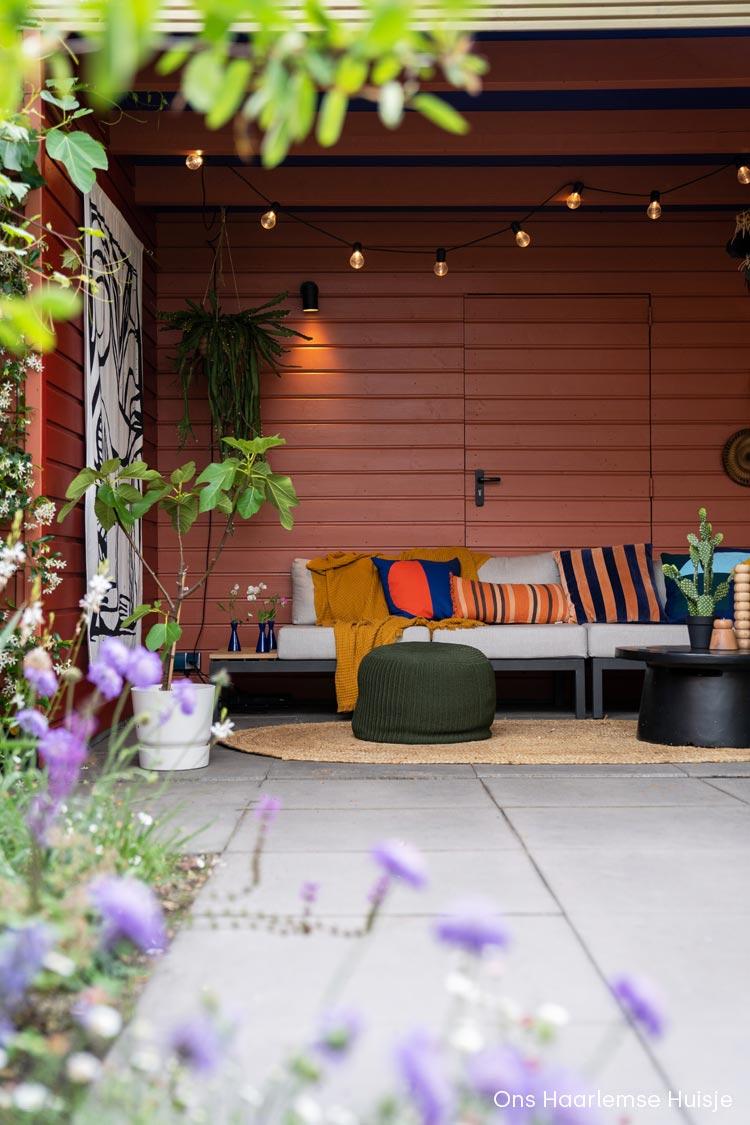 Kleur idee voor je overkapping   Rood Roze Blauw   Little Greene kleuren   Ons Haarlemse Huisje