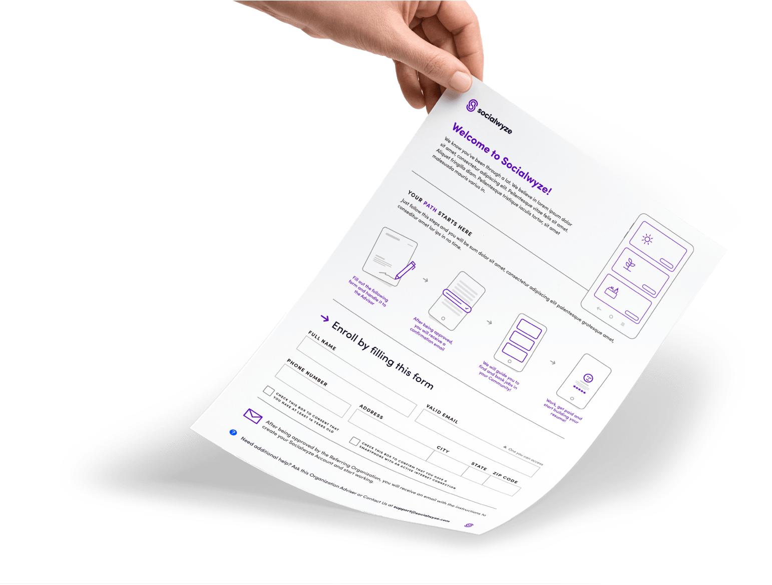 Picture of Example Worker Application Form.