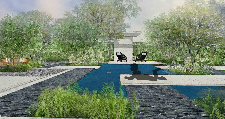 Contemporary garden pool