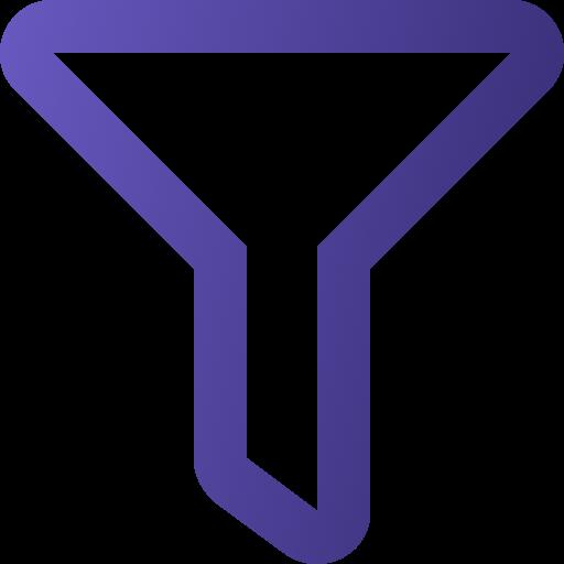 Icone funil roxo