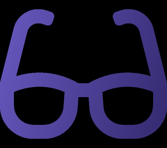 Icone oculos roxo