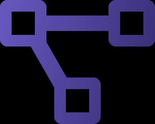 Icone fluxo roxo