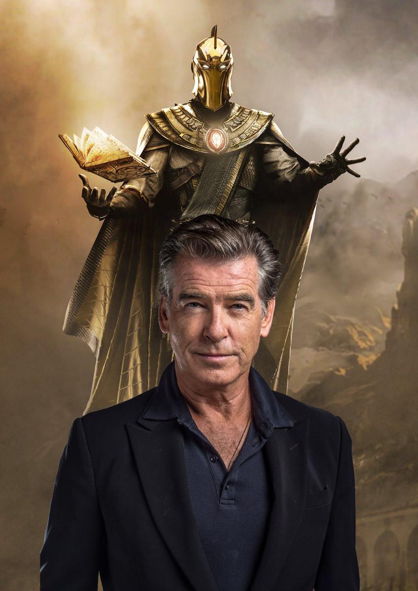 Black Adam, filme que contará a origem do Adão Negro no universo cinematográfico da DC teve a confirmação de ninguém menos que o ex James Bond Pierce Brosnan como o Senhor Destino, o Doctor Fate.