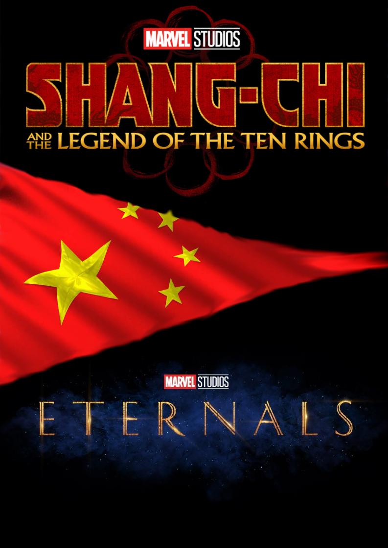 Shang-Chi e a Lenda dos Dez Aneis e Os Eternos podem enfrentar problemas no mercado chines, podendo impactar no lançamento dos filmes na China.