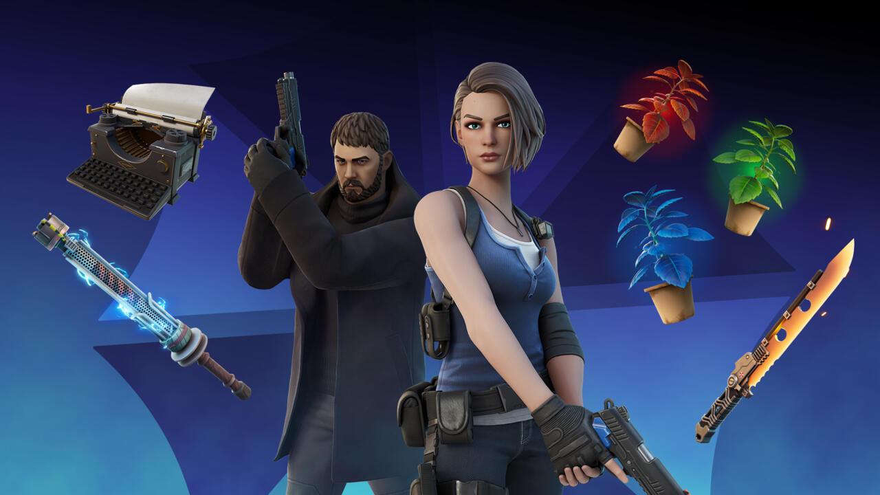 Resident Evil está chegando à Fortnite e já estão disponíveis as skins de Chris Redfield e Jill Valentine, os membros da S.T.A.R.S. que acompanham skins alternativas e muitos itens consméticos clássicos.