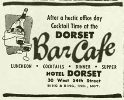 ad for Dorset Bar Cafe