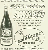 An early ad for California wines.