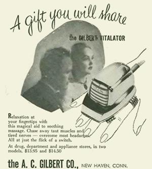 Tasteful ad for vibrator device.