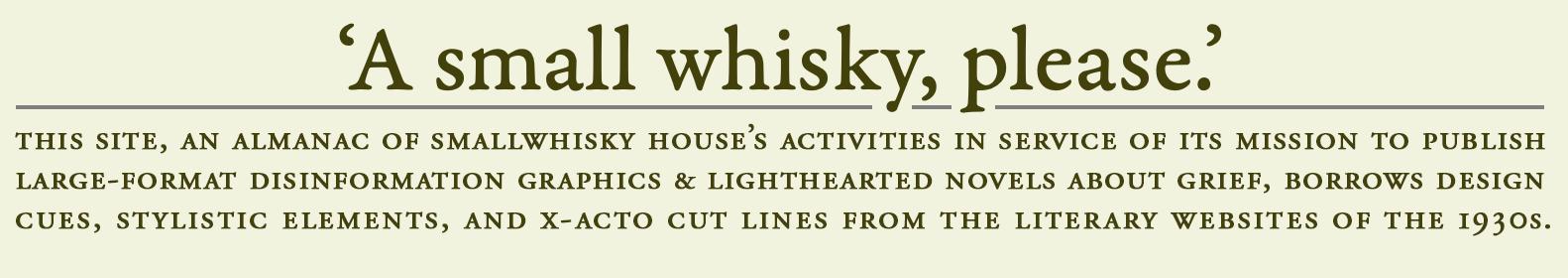 smallwhisky.com masthead