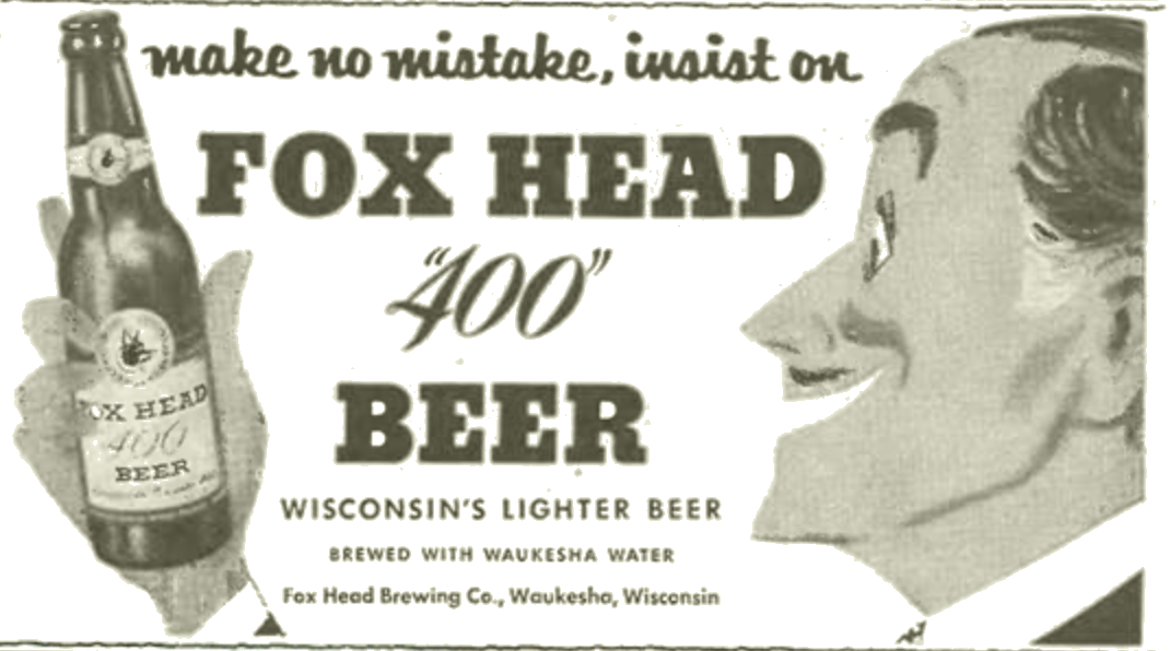 Ad for Foxhead Beer.