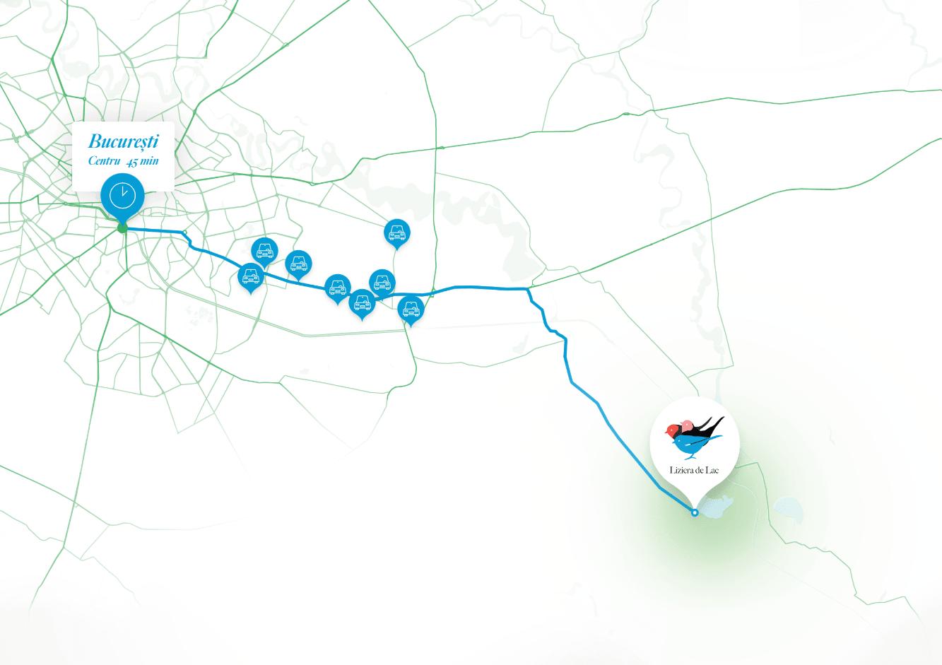Liziera de Lac - Harta Benzinarii & Service Auto