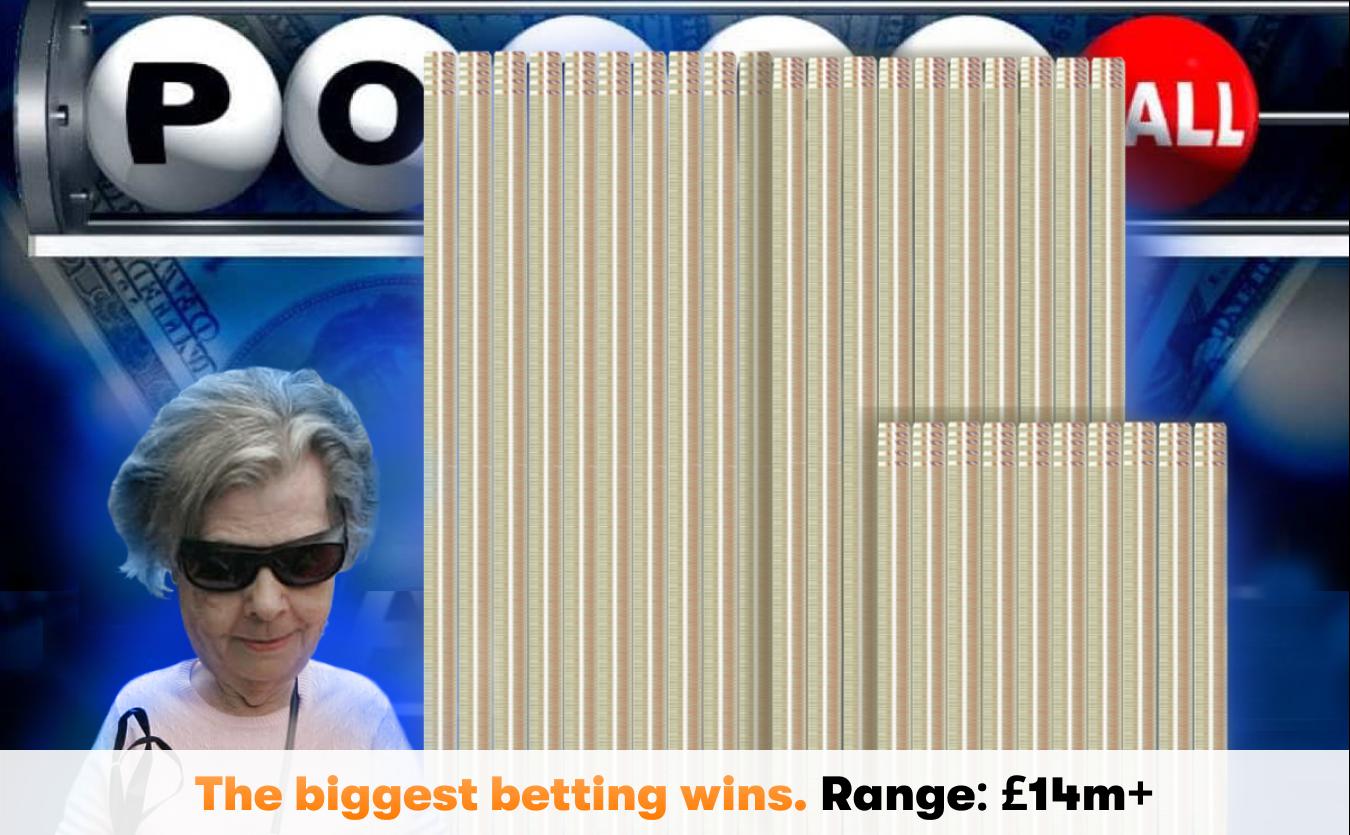 Betting wins range more than 14 million