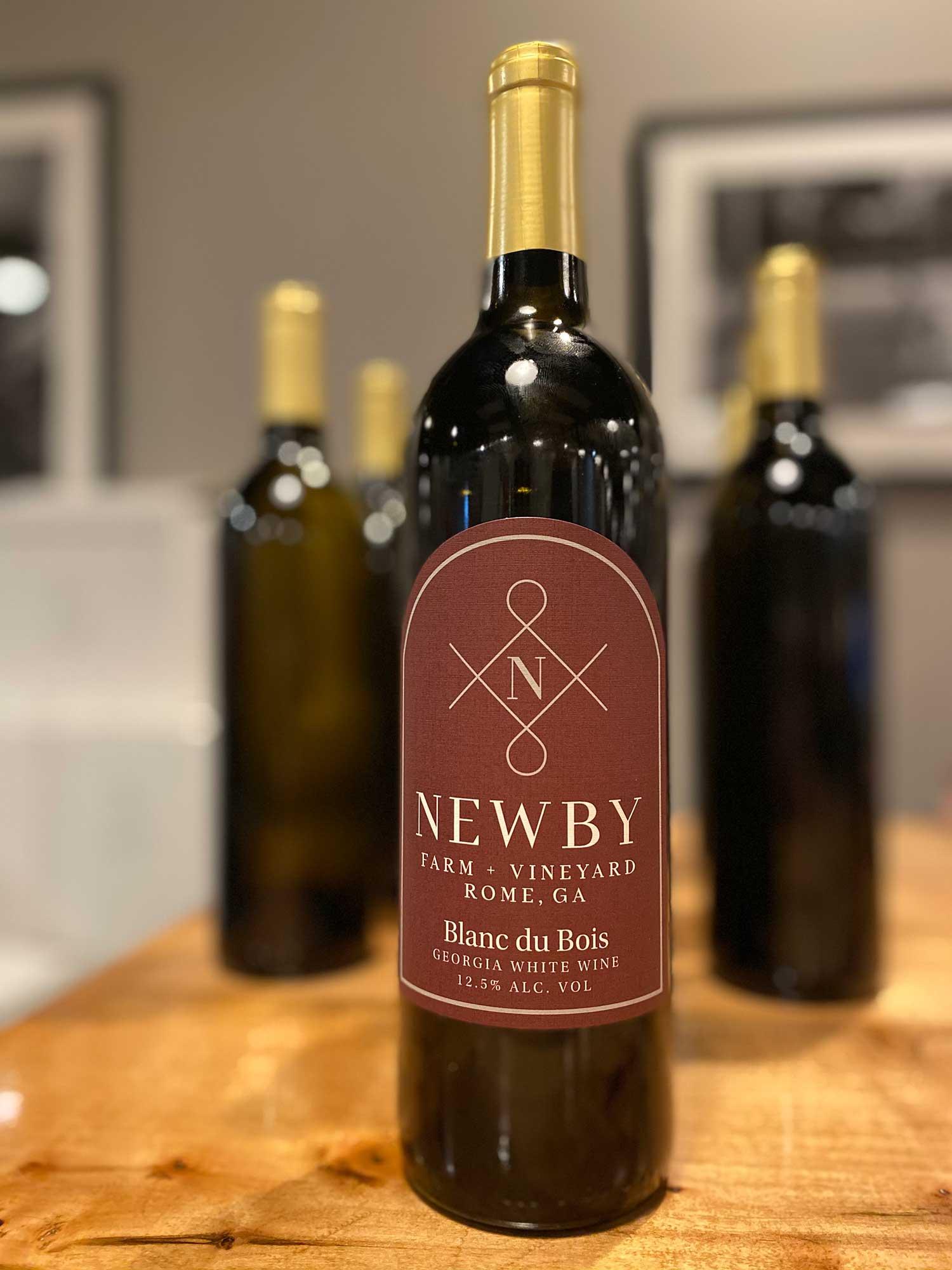 A bottle of Newby wine