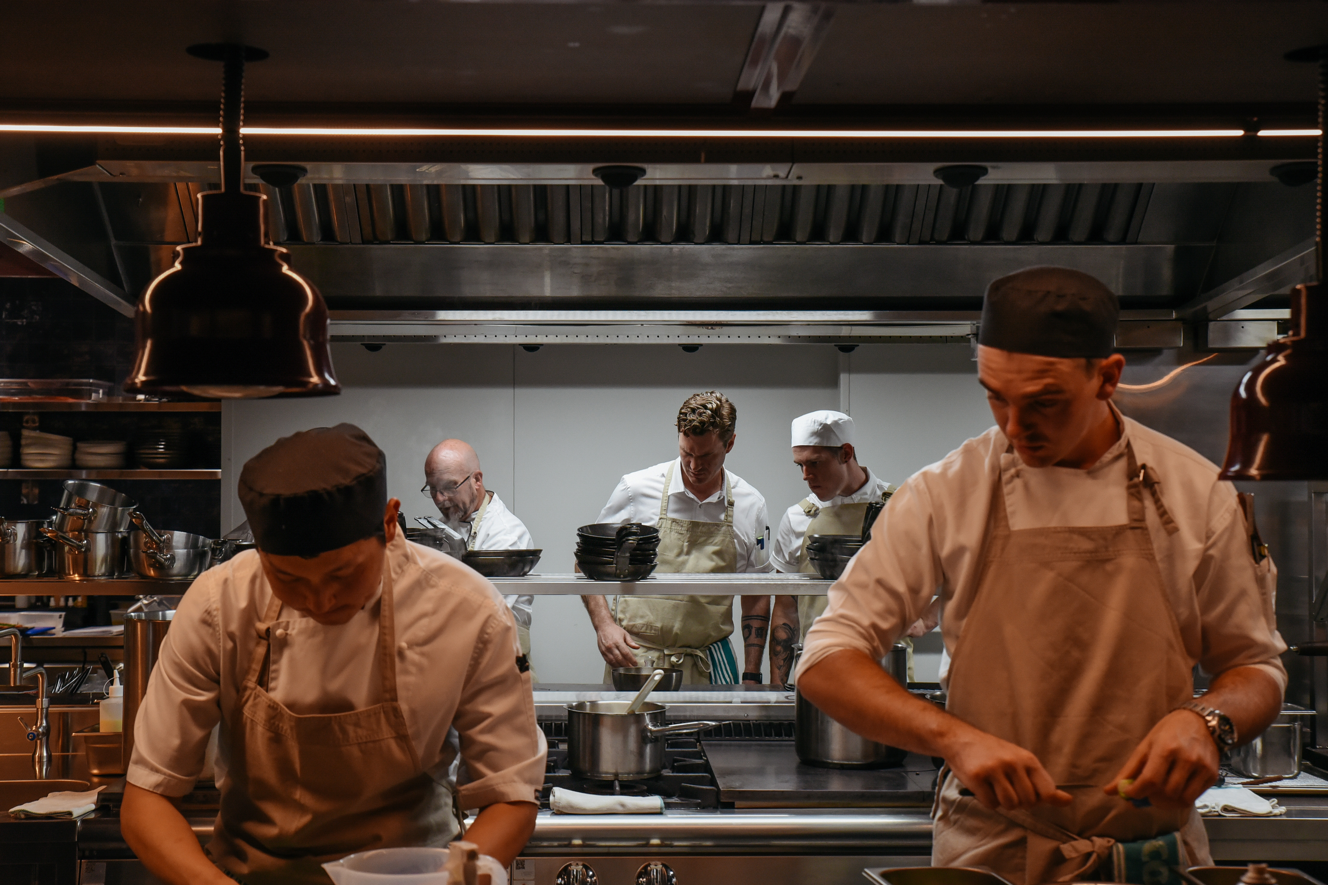 """Guilt-free dining used to be about free-range eggs and local produce but a new Adelaide precinct is shining a light on the oft-forgotten human side of the equation. """"Why do we need to sell our souls?"""" asks Brendan Wessells, head chef of the new fine-dining experience, Aurora, on Light Square."""