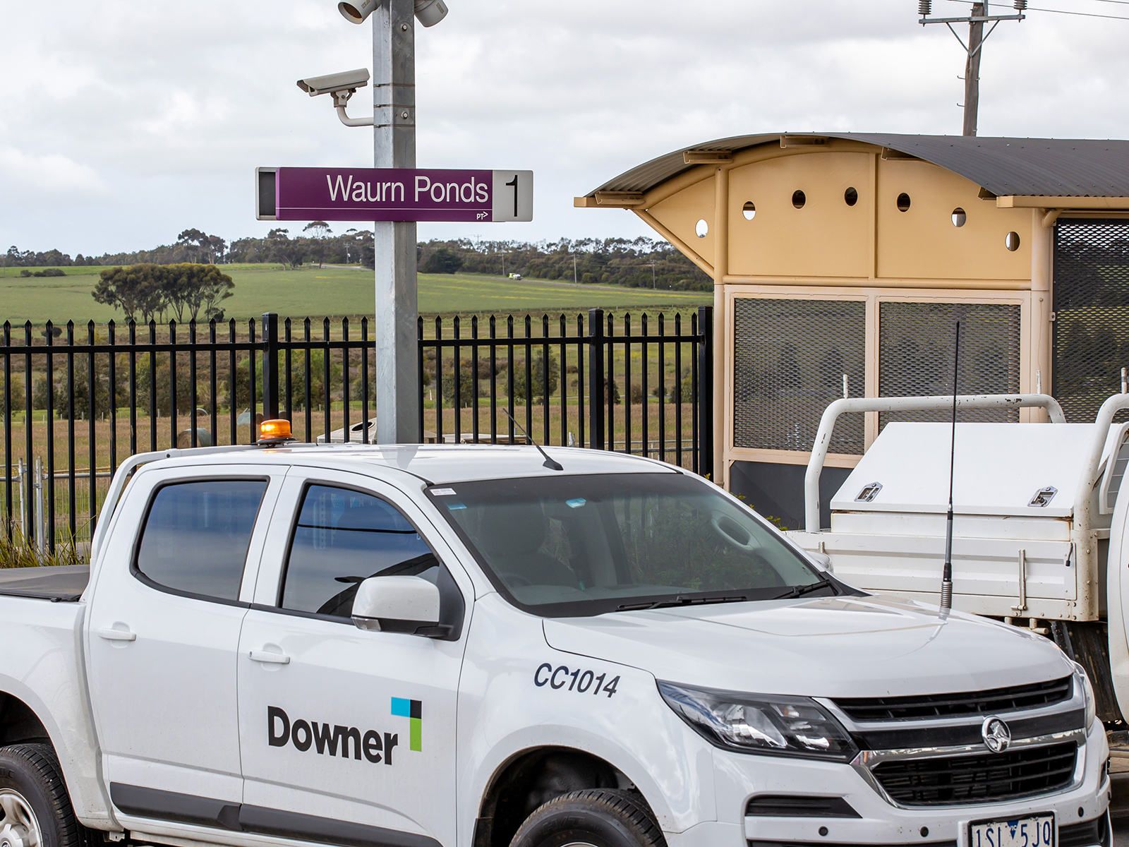Waurn Ponds station, part of the Warrnambool Line Upgrade.