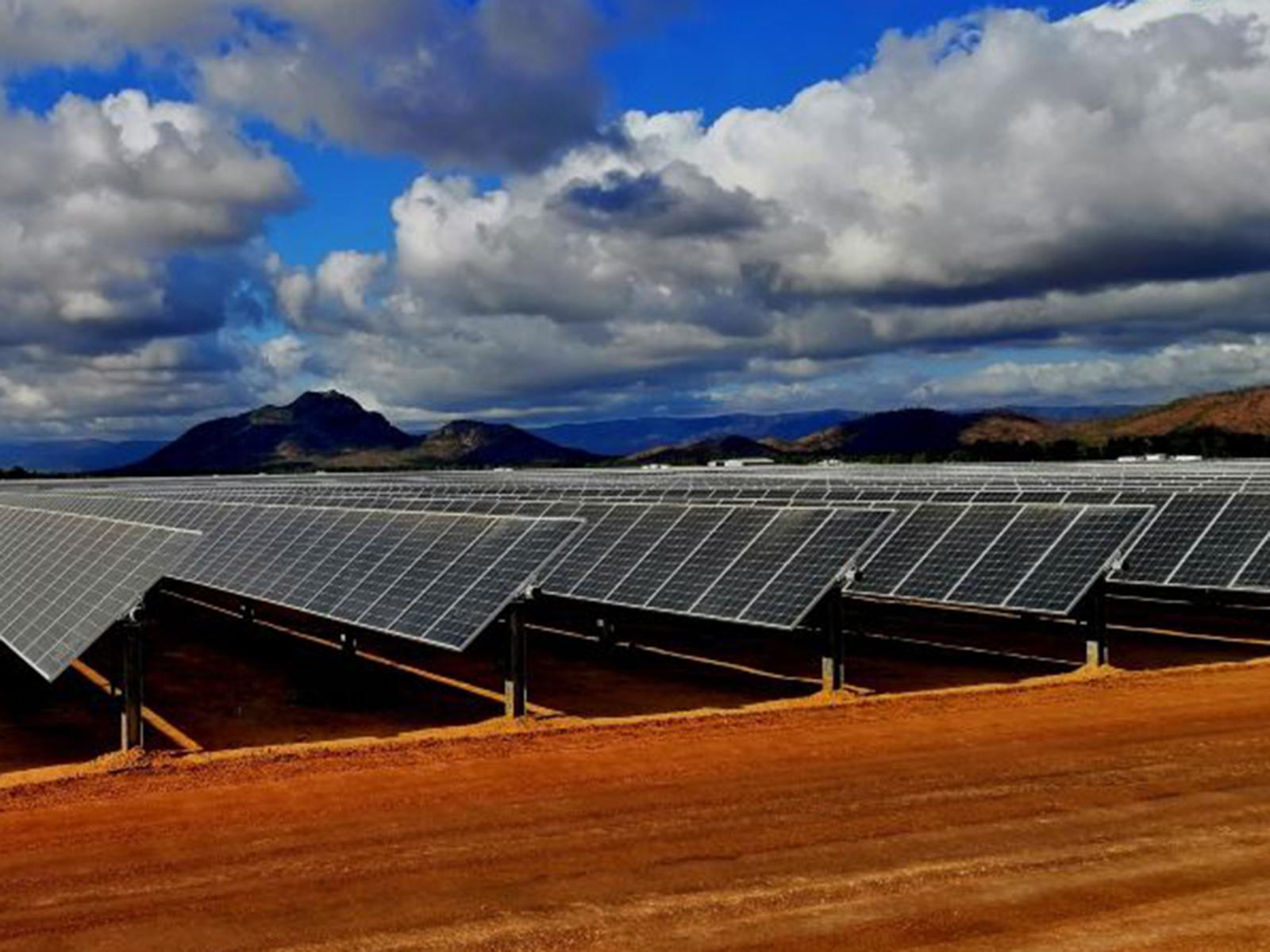 A solar farm in Chitchester.
