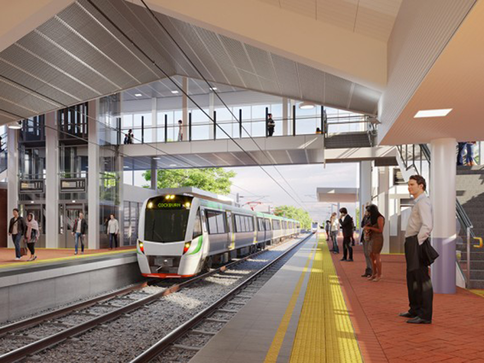 A render of Western Australia's Metronet Thornlie to Cockburn project.