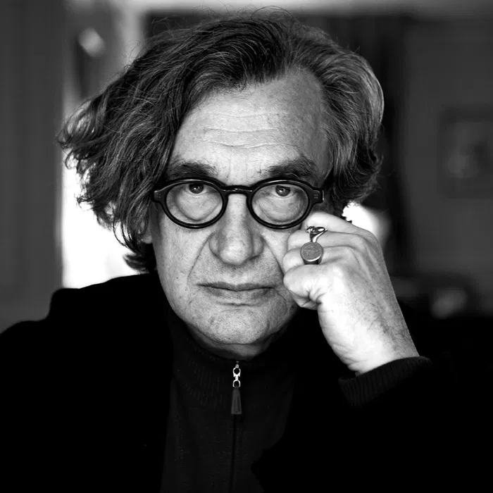 Photo of Wim Wenders for winning best achievement in cinematography
