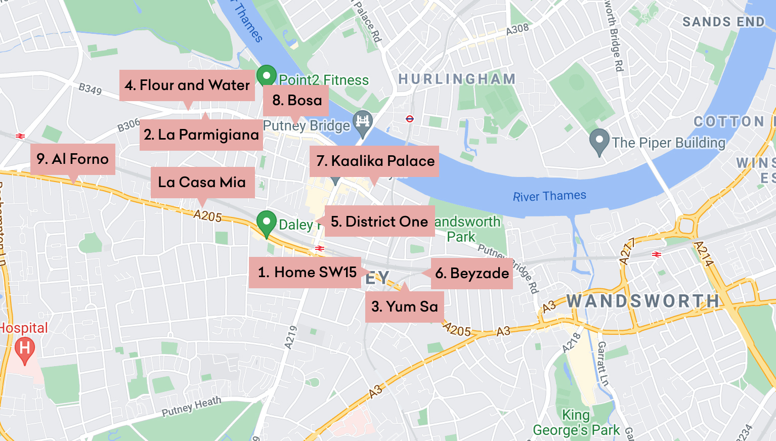 Our nine most recommended restaurants in the Putney area