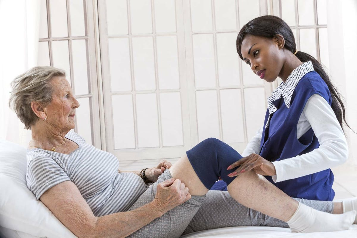 Physio treating patient