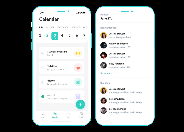 Westrive calendar and client management tracker