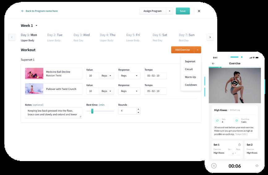WeStrive Demo of the website & mobile app