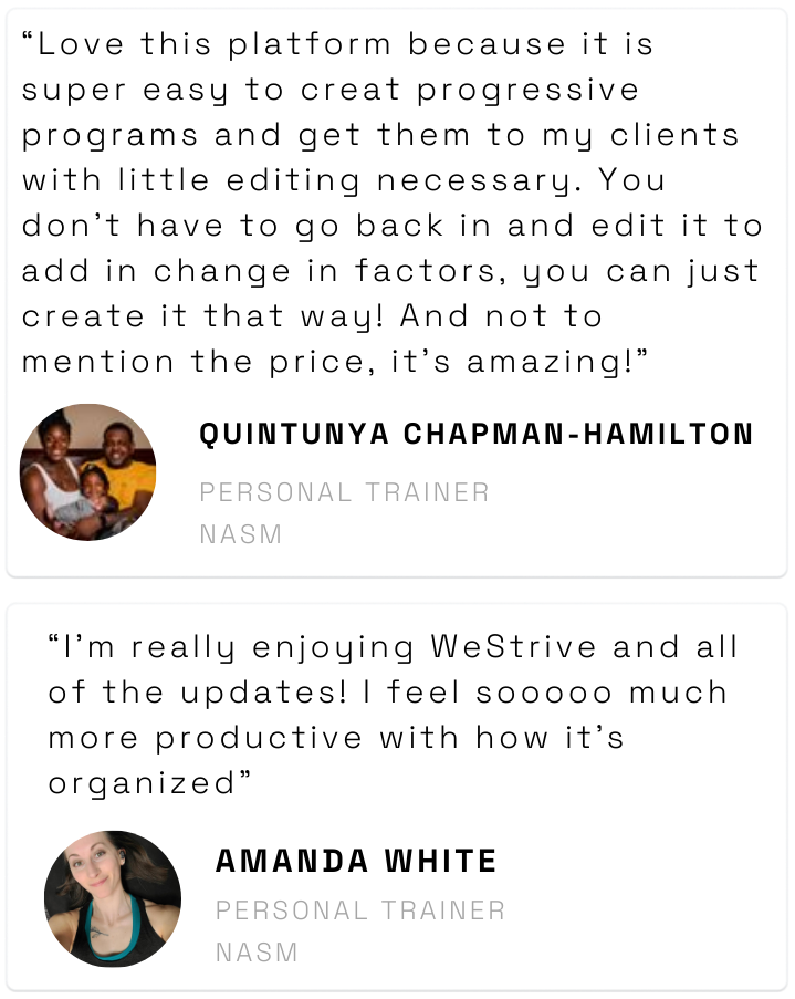 WeStrive Personal Trainer Review