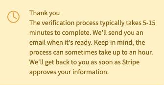 Stripe Connect payments on WeStrive verification