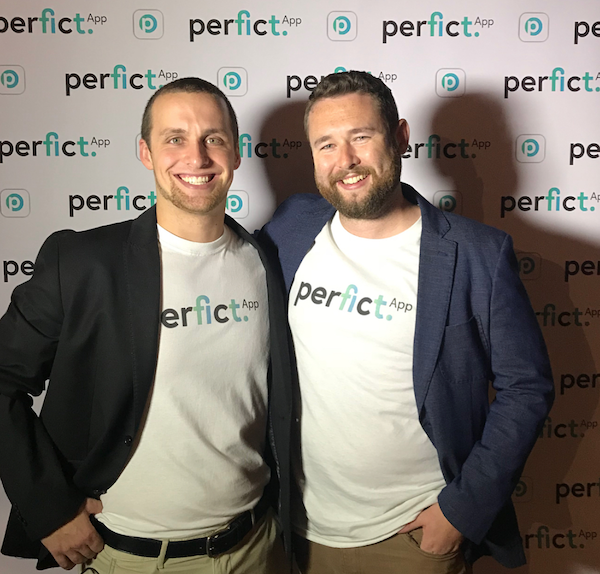 Cory McKane and Sean Daly for the WeStrive - originally called PerFIcT - launch event