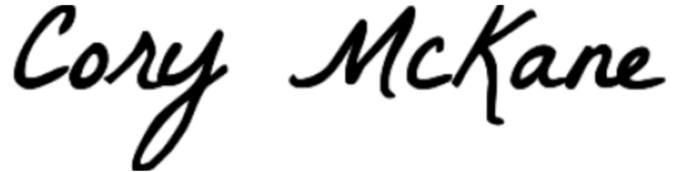 Cory McKane signature