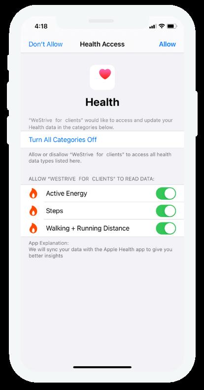 WeStrive personal trainer dashboard on ipad