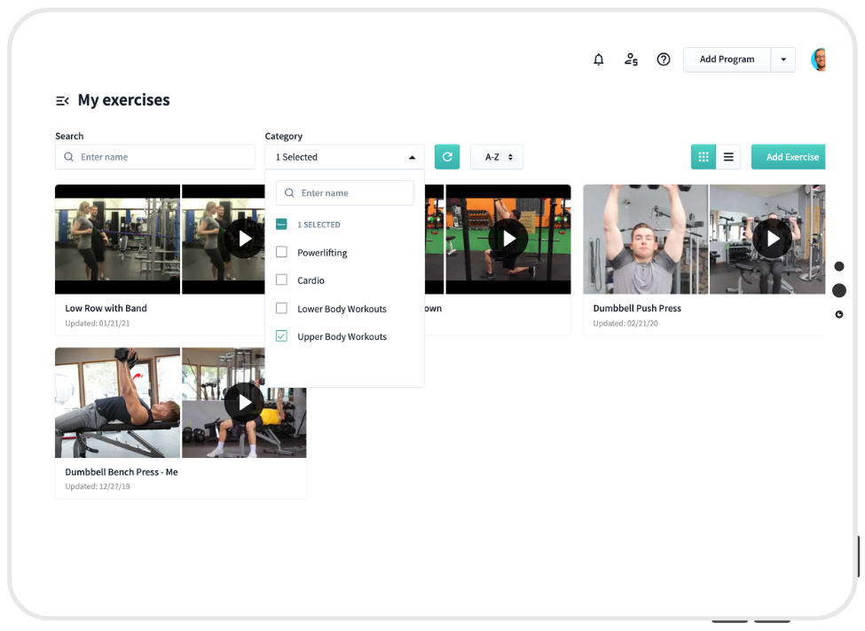 WeStrive fitness program builder