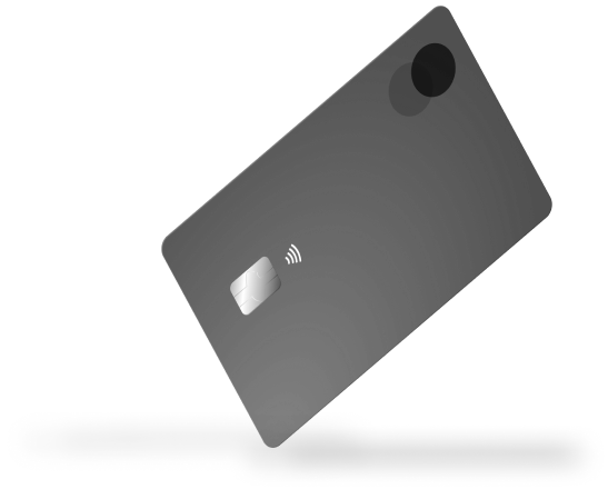Floating credit card image