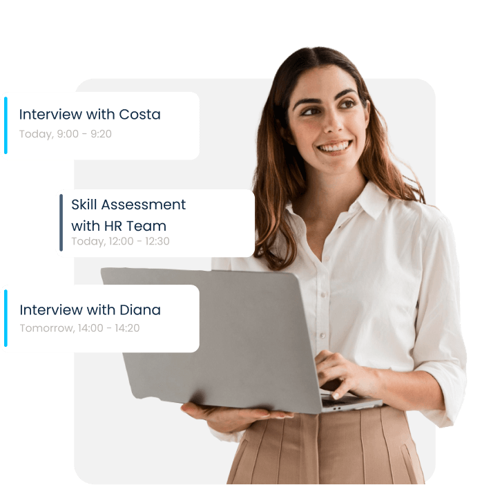 Online scheduling solution for recruiters