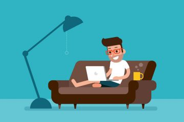 Illustration of a guy working