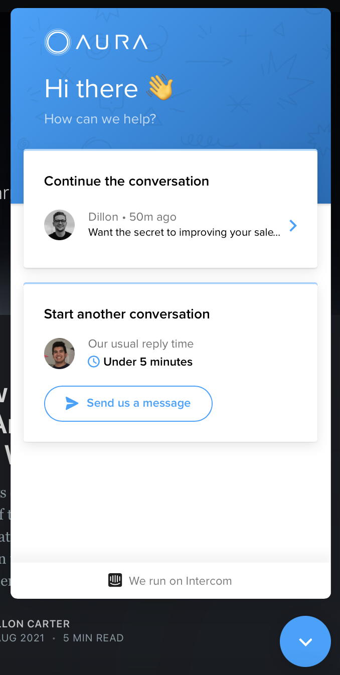 Aura live chat increase conversion rate